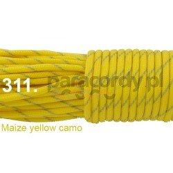 Paracord 550 linka kolor maize yellow camo