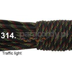 Paracord 550 linka kolor traffic light