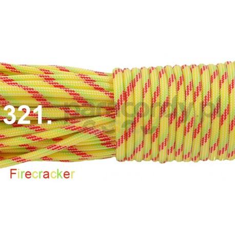 Paracord 550 linka kolor firecracker