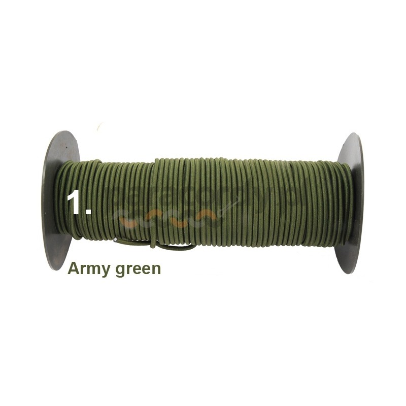 Shockcord 3mm kolor Army green