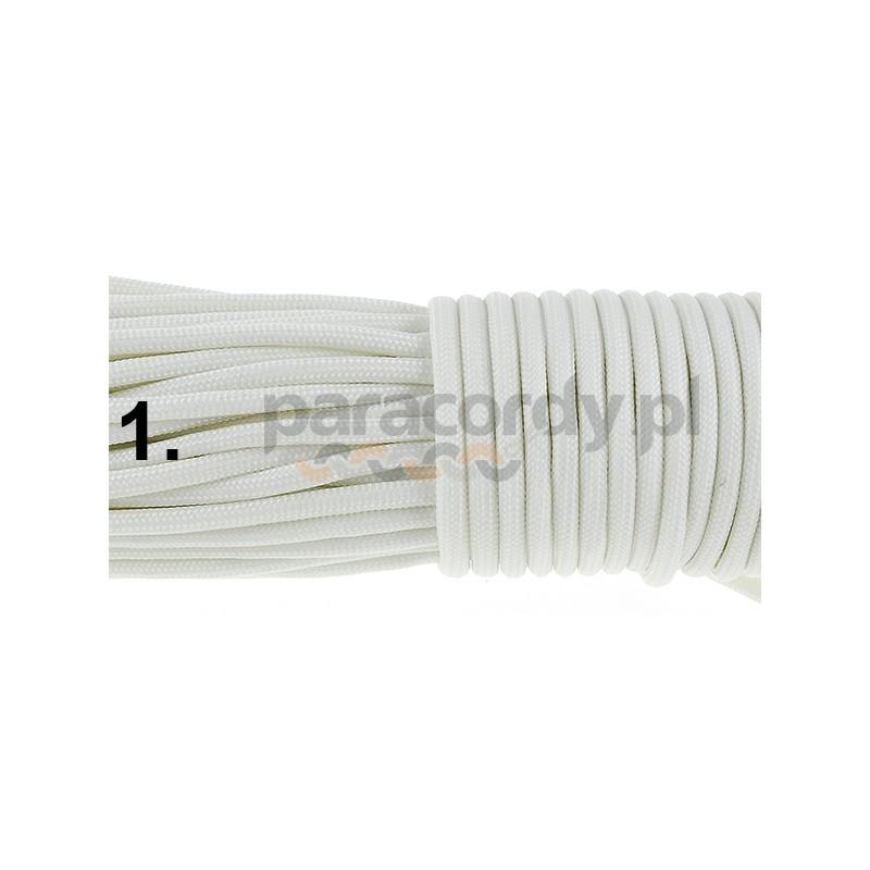 Paracord 550 GITD świecący linka kolor white