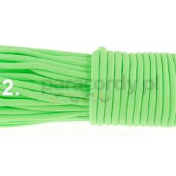 Paracord 550 GITD świecący linka kolor green