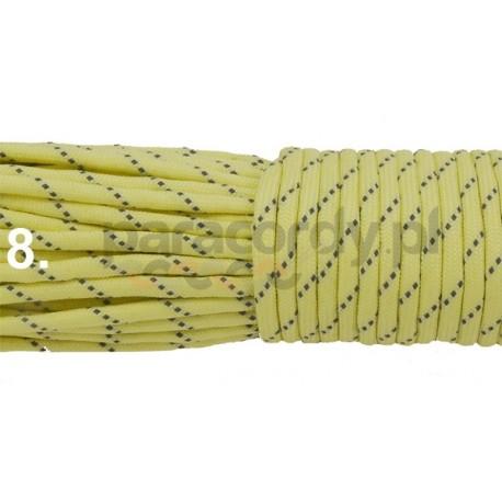 Paracord 550 GITD świecący linka kolor yellow reflective