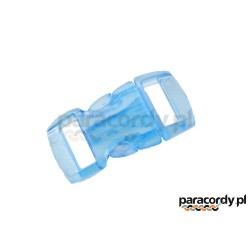 "Oryginalna plastikowa klamra - zapinka  3/8"" 10 mm transparent - 12 kolorów"