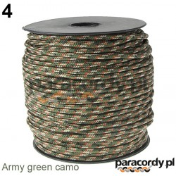 Paracord 220 linka kolor army green camo