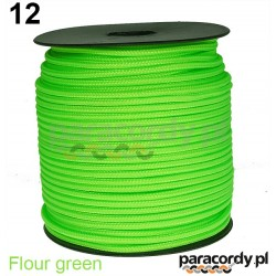 Paracord 220 linka kolor fluor green