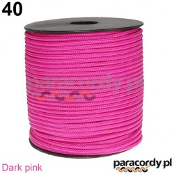 Paracord 220 linka kolor dark pink