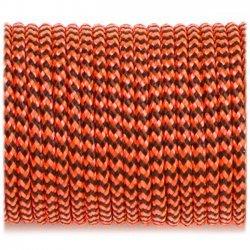 Paracord 220 minicord linka orange black wave