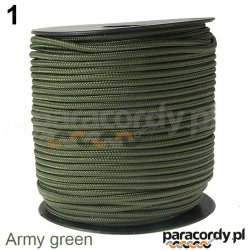 Paracord 220 minicord linka kolor army green