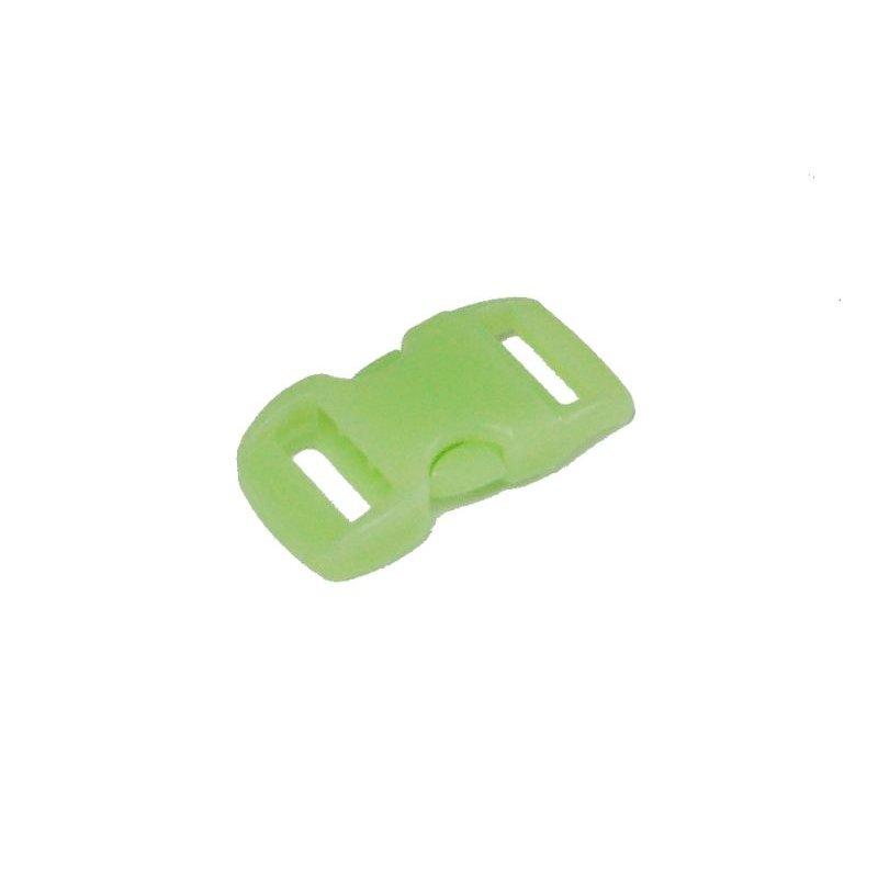 """Plastikowa klamra - zapinka  3/8"""" 10 mm GITD świecąca w ciemności"""